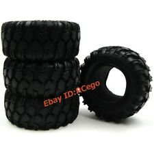 "4pcs RC 1/10 90MM 1.9"" Crawler Rock Tires Tyres for Tamiya RC4WD Axial upgrade"