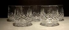 (5) VINTAGE WATERFORD CRYSTAL LISMORE 9 OUNCE ROLY POLY OLD FASHIONED TUMBLERS