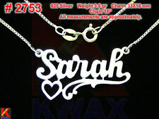SARAH Personalized 925 Sterling Silver Name Necklace Handcrafted Custom Unique