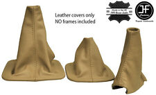 BEIGE LEATHER SHIFT & E BRAKE & HI-LOW  BOOTS FITS LAND ROVER DISCOVERY MK1 MK2