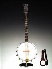 """9""""H Banjo with Case & Stand Replica Miniature Musical Music Instrument, New, Fre"""