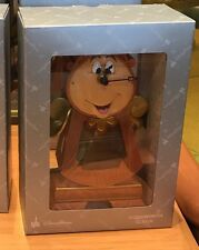 NEW Disney Parks Beauty & Beast COGSWORTH Working CLOCK Medium Big Fig Figure