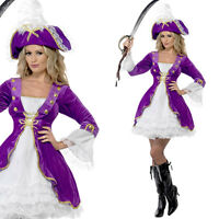 Ladies Purple Pirate Fancy Dress Costume & Hat – Sexy Pirate Wench Outfit