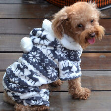 Casual Pet Dog Winter Warm Hoodie Coat Jacket Clothing Clothes Free Shipping