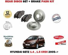 FOR HYUNDAI GETZ 1.4 1.5DT CRDI 2005- NEW  REAR BRAKE DISCS SET + DISC PADS KIT