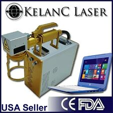 Portable detachable 20W Fiber MOPA M6 Black, Color Marking / Engraving Laser FDA