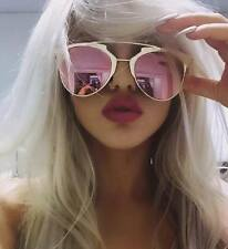 WOMENS ROSE GOLD SUNGLASSES PINK TOWIE KYLIE KIM FESTIVAL ** FREE CASE **