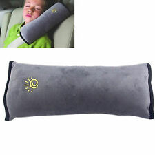 Seat Belt Shoulder Pad Cushion - Children or Adult Car Sleeping Aid Grey NEW