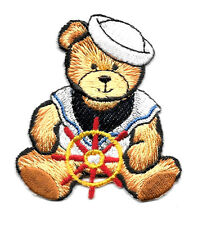 Sailor -Teddy Bear - Nautical -  Fully Embroidered Iron On Applique Patch