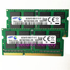 New Samsung 8GB 2X4GB DDR3-1066MHZ PC3-8500 Laptop Memory 204pin Pair NON-ECC
