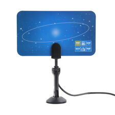 Digital Indoor HD TV HDTV DTV VHF UHF PC NB Flat High Gain Antenna 1080 i P HS