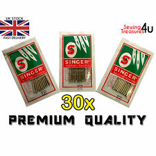 30 X SINGER DOMESTIC SEWING MACHINES NEEDLES - SIZES 14-16-18 (Genuine Needles)