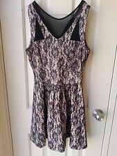 VALLEYGIRL DRESS BEIGE LACE PATTERN W/ SEE-TROUGH DETAILS - BNWT SIZE SMALL
