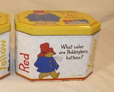 Paddington Bear Knows His Colors Tin Crayon Childs Quiz Box Daycare! Travel!