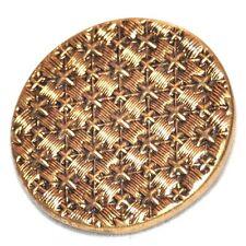 1 bouton ancien en laiton doré motif étoilée 27mm button