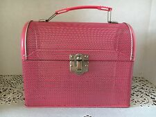 Pink Mesh Dome Top Metal Lunchbox