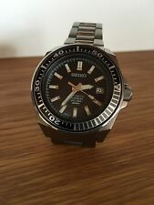 "SEIKO ""Black Samurai Diver"" titanium watch."