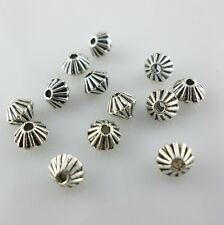 100pcs Tibetan Silver Small Cone-shaped Charms Jewelry Spacer Beads 4x5mm