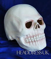 White Skull Full Overhead Latex Rubber Mask Fancy Dress Halloween Costume