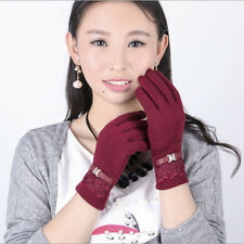 Women's Fashion Touch Screen Cotton Winter Cycling Warm Girls' Gloves & Mittens