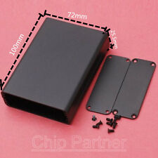 Aluminum Box 72*25.5*100mm Black PCB Instrument Project Electronic Case Tool