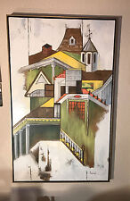GINGERBREAD HOUSE OIL ACRYLIC ON CANVAS ORIGINAL PAINTING SIGNED & AUTHENTICATED