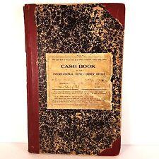 1912 Post Office International Money Order Cash Book & Treasury Dept. Auditor