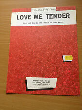 ELVIS PRESLEY - Love Me Tender, sheet music. Australia