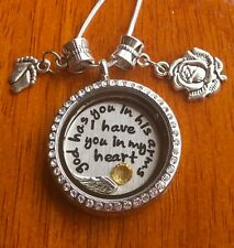 Miscarriage God has you in his arms I have you in my heart son daughter necklace