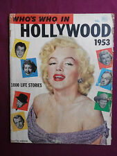 MARILYN MONROE WHO'S WHO IN HOLLYWOOD 1953 DALE ROBERTSON JANE RUSSEL