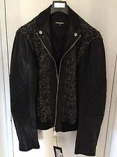 Brand New Dsquared2 Leather/Wool Men's Jacket IT Size 50