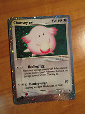 PL Pokemon CHANSEY EX Card RUBY and SAPPHIRE Set 96/109 Ultra Rare Holo TCG