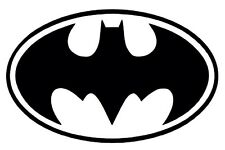 BATMAN Symbol Dark Knight DC Comic Movie Vinyl Decal Sticker Bumper Window Black