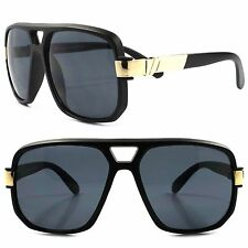 Hip Hop Rapper Rich Look Famous Swag Mens Womens Matte Black Square Sun glasses