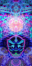 Psychedelic Trippy Face Panorama long Art Artwork Print Poster 26,3 x 13 inches