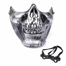Half Skull Halloween Masks. Cod Duty Ghosts Skeleton Jaw. Silver