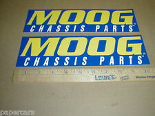 MOOG chassis parts original NASCAR racing contingency Sticker Decal set of 2 NEW