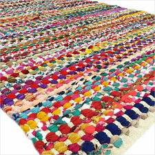 3 X 5 ft MULTICOLOR COLORFUL CHINDI WOVEN RAG RUG Boho Indian Bohemian Decor