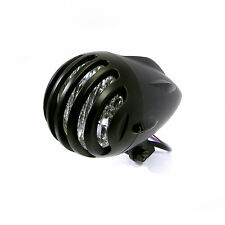 "4 1/2"" Matt Black Aluminium H4 55W E-marked Chopper Bobber Retro Bike Headlight"