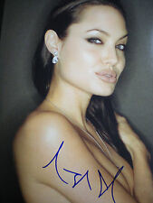 "SIGNED STUNNING & SEXY PHOTO ANGELINA JOLIE 'LARA CROFT' ""TOMB RAIDER"" COA-11X14"