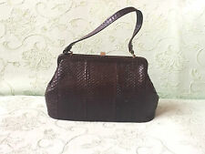 Vintage Bag Genuine Snake Skin Leather Handbag