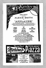 "Alexis Smith ""APPLAUSE"" Pia Zadora / Charles Strouse / Lee Adams 1973 Playbill"