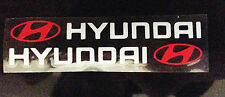 ☆New☆ A Pair Amazing handle Car Stickers Decals, Graphics For Hyundai (White)
