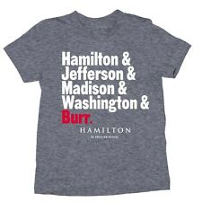 Hamilton Broadway Musical Names Shirt Jefferson Burr Lin Manuel Miranda MEDIUM