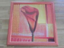 Bild Kunstdruck rote Blüte rot gerahmt KS-Art & Design (gebraucht)