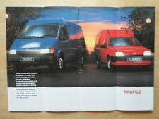 FORD VANS orig 1992 UK Mkt Sales Brochure - Fiesta Courier Escort P100 Transit