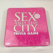 Sex and The City Trivia Game HBO Large Pink Tin Box NEW FACTORY SEALED