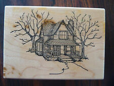 Farm House Victorian Era   Rubber Stamp  Art Impressions    3 1/4 x 4 3/8