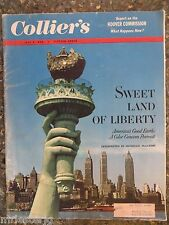 1955 June 8  Colliers Magazine  Hoover Commission VINTAGE ADS  Statue Of Liberty