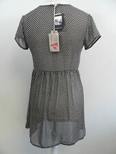 made in england one & only black dress with pattern SIZE MEDIUM NEW BOX8331 D
